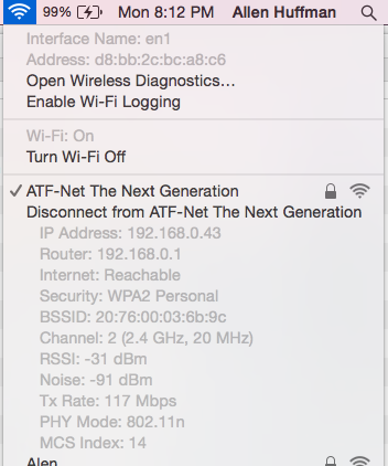Wireless Diagnostics in Mac OS X