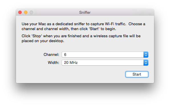 Wireless Diagnostics in Mac OS X has a port sniffer!