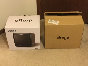 Drobo 3rd gen (left) vs 2nd gen (right).