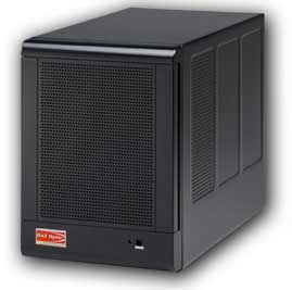qBox 4-drive enclosure (photo from their website).