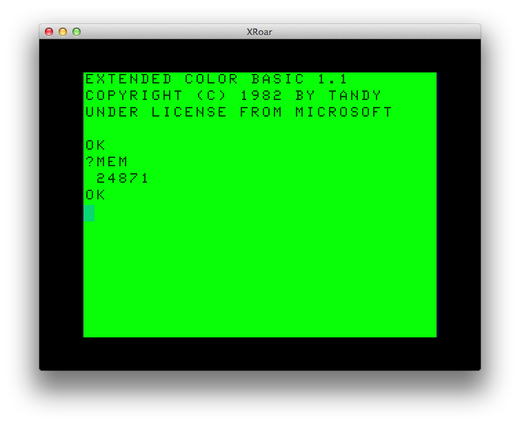 32K CoCo BASIC memory.